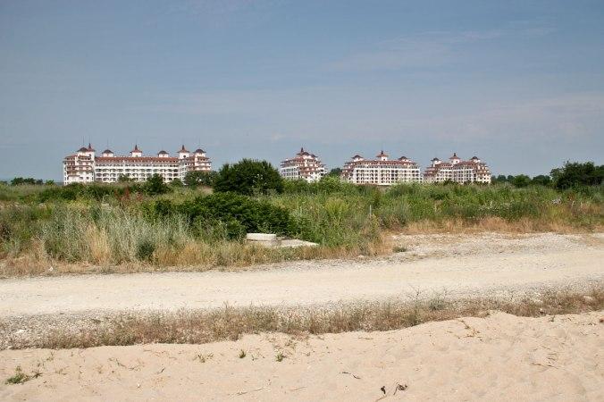 Strand und Hotel bei Obzor.