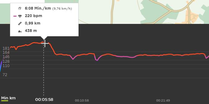 Jedes Mal ein Anfangspuls deutlich über 200 bpm. Warum?
