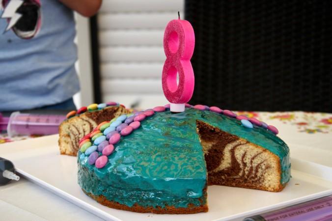 Auch beim Kindergeburtstag durfte ein leckerer Kuchen nicht fehlen