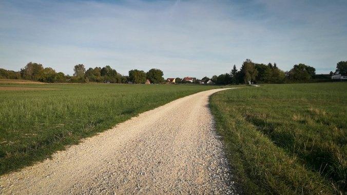 Ein Lauf in den schönen Abendstunden...