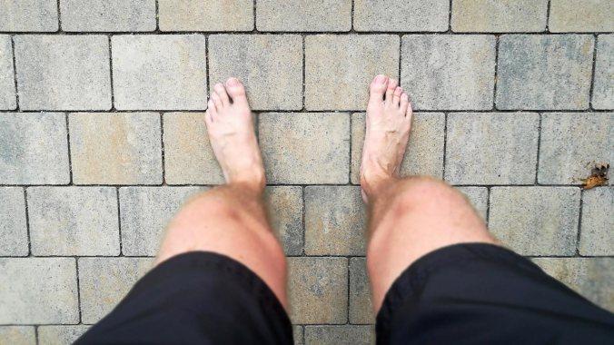 Die Füße qualmen auch nach langsamen Runden... ;)