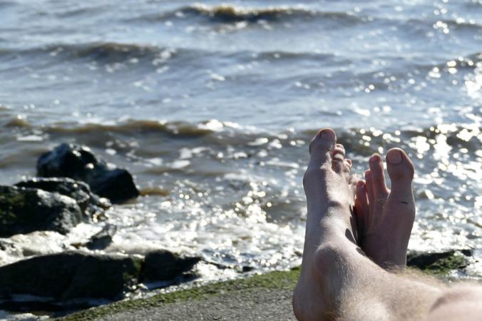 Entspannung in der Sonne an der Nordsee