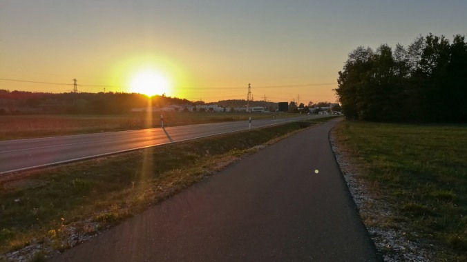 Ein Lauf in den Sonnenuntergang...