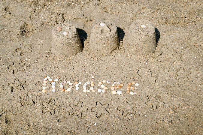 Das obligatorische Urlaubsfoto am Strand