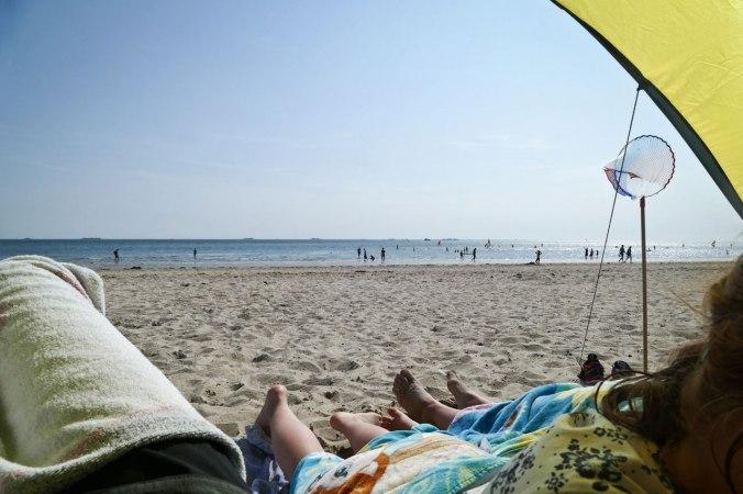 Ein Blick aus unserer Strandmuschel
