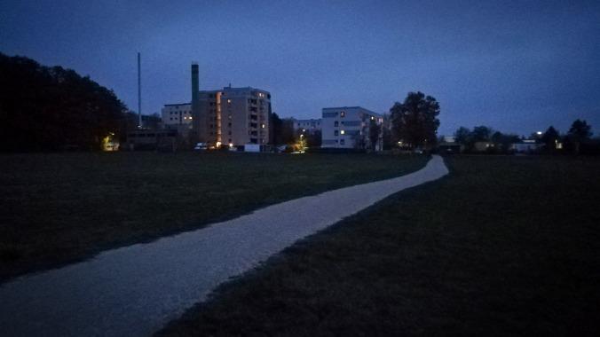 Ein Lauf zur blauen Stunde...