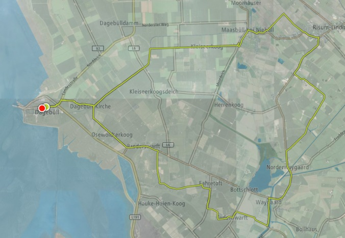 Unsere Route: 31 km quer durch Schleswig-Holstein