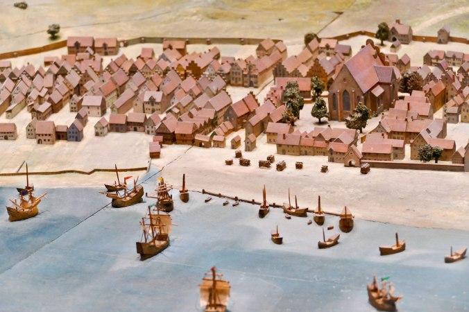 Ein Modell des historischen Flensburgs im Schifffahrtsmuseum