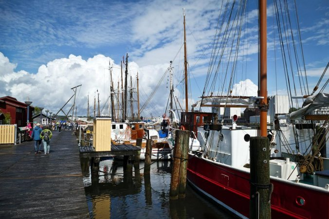 Der Außenbereich des Schifffahrtsmuseums...