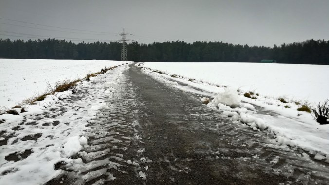 Nicht mehr ganz so idyllisches Winterwetter...