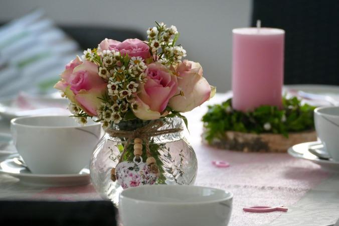 Die wunderschöne, selbstgemachte Tischdeko (alles Lob bitte an die Frau des Hauses)