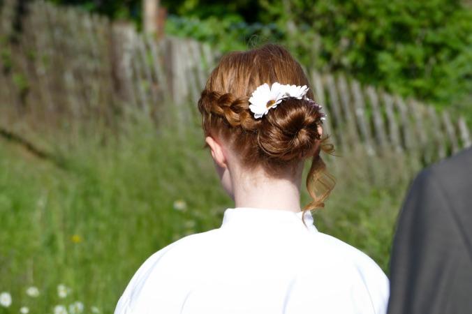 Die Frisur war ein großes Thema und das Zappelinchen sah damit wirklich bezaubernd aus