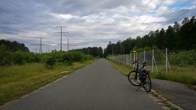 10 km vor dem Ziel auf dem Hinweg