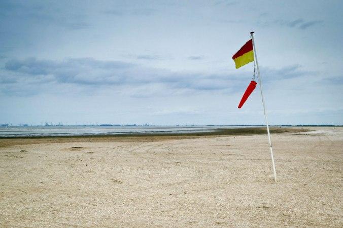 Bis auf wenige Augenblicke war es immer sehr windig am Strand...