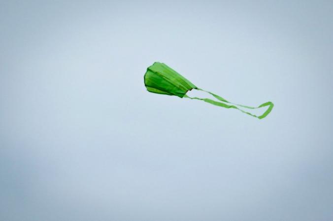 ...und das war natürlich die perfekte Voraussetzung, unseren Drachen fliegen zu lassen
