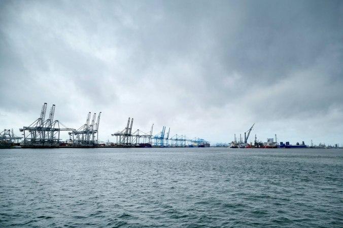 Ein Blick auf einen Teil des gigantischen Hafenbeckens