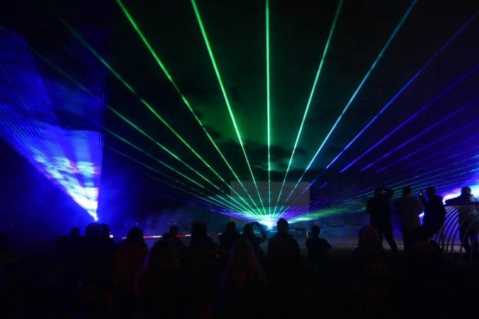 Die Lasershow beginnt...