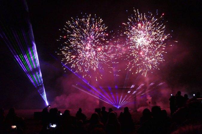 Am Ende gab es ein kurzes, aber sehr effektiv inszeniertes Feuerwerk