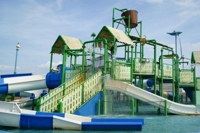 Endlich, der Wasserspielplatz!