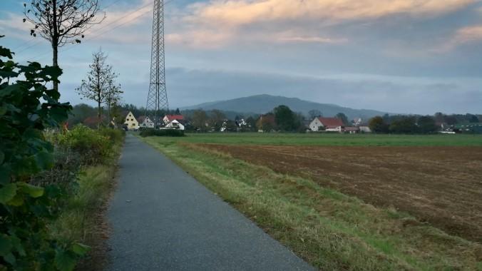 Am Ende des Laufes war es ganz schön dunkel...