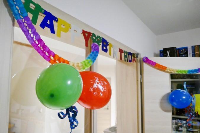 Schon am Vorabend haben wir das Wohnzimmer in den Geburtstagsmodus versetzt