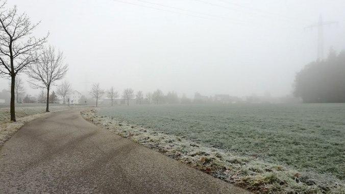 Frostiger Nebel bei -3 °C