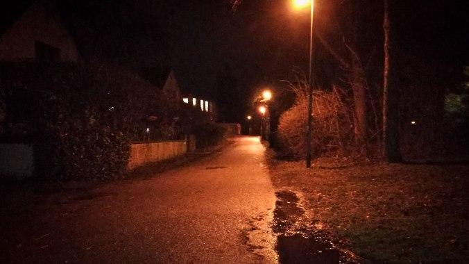 Was für ein Wetter! Aber nachts sind alle Laufwege rot...