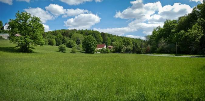 Entlang des unfassbar idyllischen Schwarzachtals (Panorama aus zwei Fotos)
