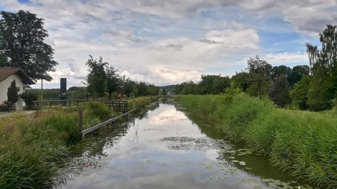 Eine herrliche Runde inklusive ein paar Kilometer entlang des Alten Kanals