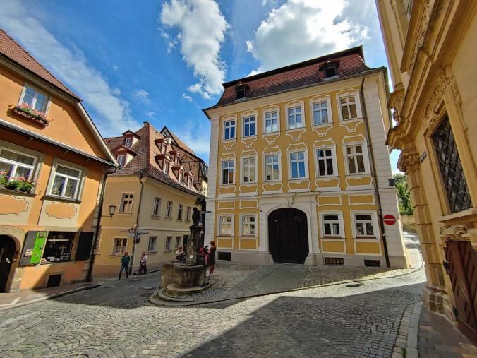 Das berühmte Sams-Haus in Bamberg (Außenkulisse für das Haus des Herrn Taschenbier)