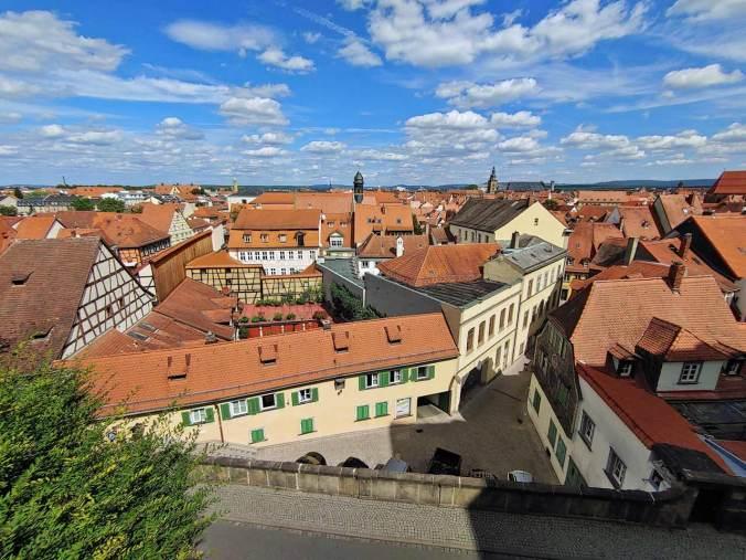 Die Aussicht vom Bamberger Rosengarten