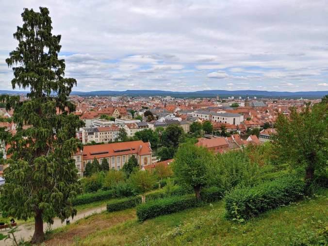 Die Aussicht vom Kloster Michaelsberg auf Bamberg