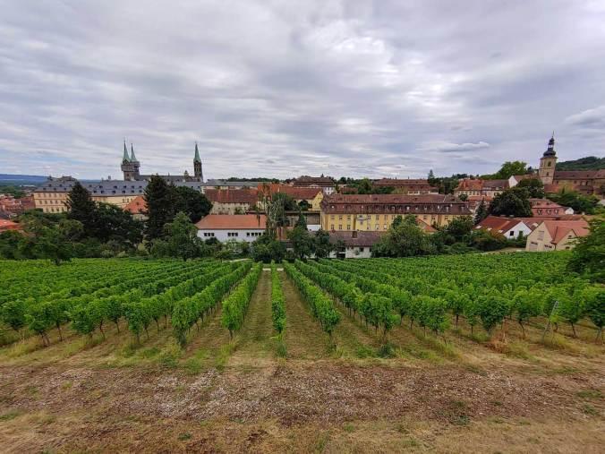 Die Aussicht vom Kloster Michaelsberg auf den Bamberger Dom
