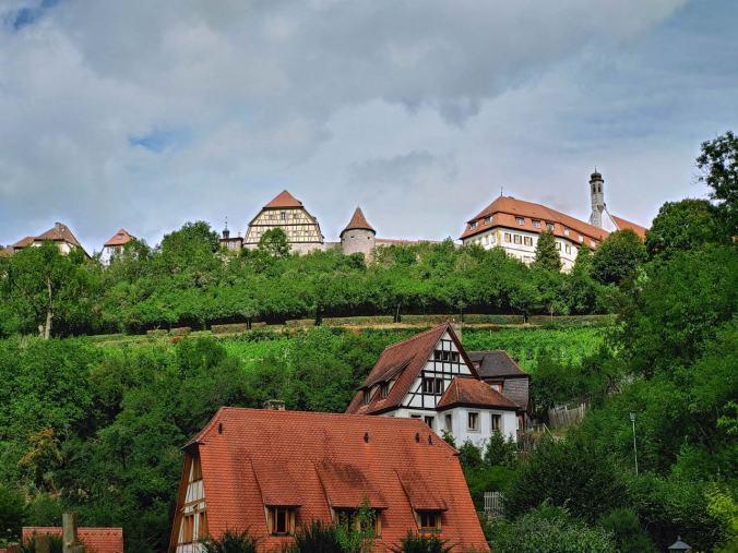 Der Blick zurück nach Rothenburg