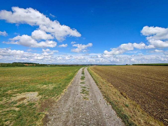 Ein großer Teil unserer Wanderung führte über weite Felder