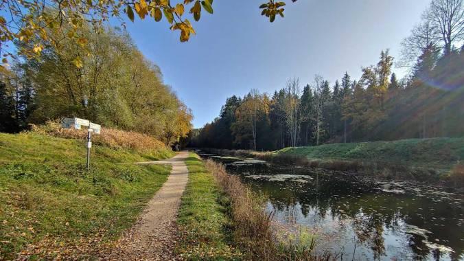 Heute einmal wieder schön am Alten Kanal entlang