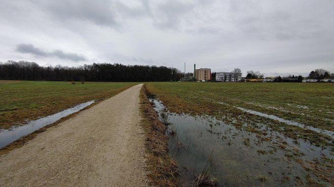 Heute hat es nur auf dem letzten Kilometer geregnet