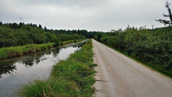 Gegen Abend am Kanal entlang war es weitestgehend schön leer