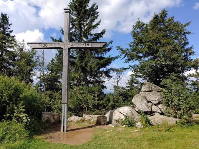 Das Gipfelkreuz auf dem Ochsenkopf